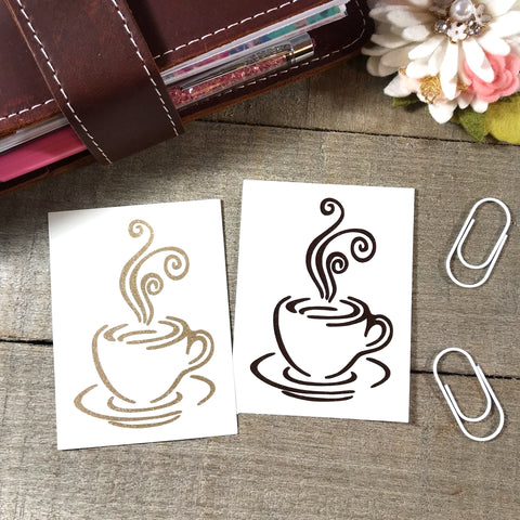 Coffee Cup Vinyl Decal
