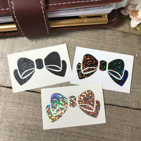 Bow Vinyl Decals- Single Color
