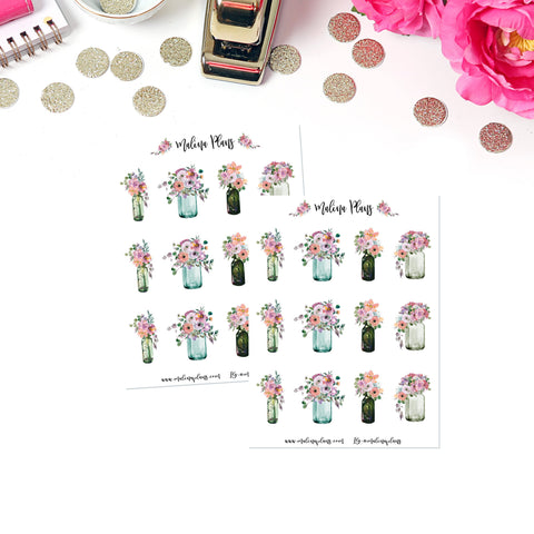 Romantic Florals Sticker Sheet- Bouquets