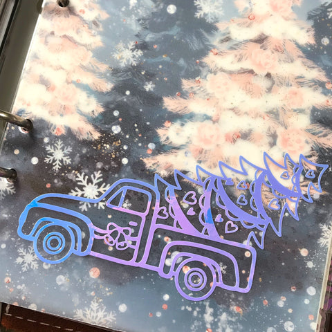 Winter Truck Vinyl Decal