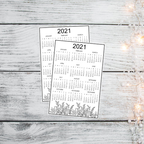*Printable* 2021 Year-at-a-Glance