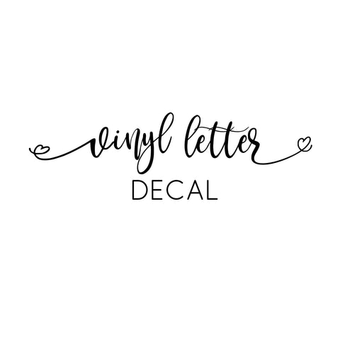 Heart Letter Vinyl Decal