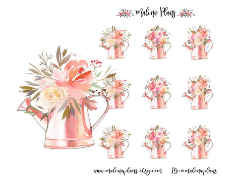 Pastel Bouquets Sticker Sheet