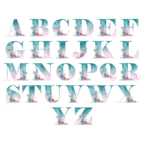 Succulent Letter Sticker Die Cuts