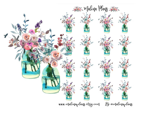 Brighter Days Ahead Bouquet Sticker Sheet