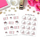 Pink Collection Planner Stickers