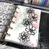 Floral Page Edge Vinyl Decal