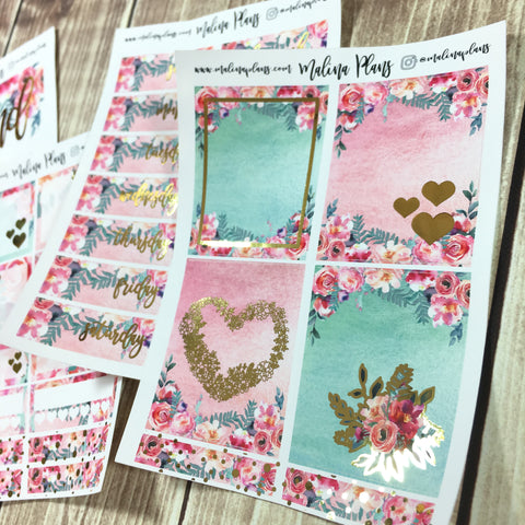 Sunrise Florals- Foiled Mini Sticker Kit
