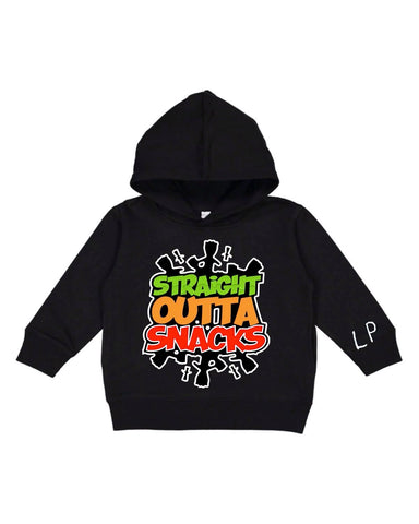 Straight Outta Snacks toddler hoodie