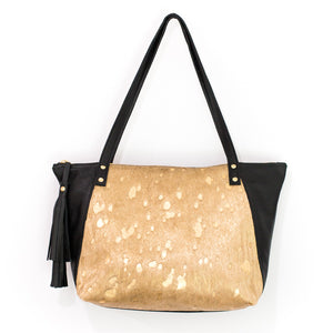 Elsey Gold Tote