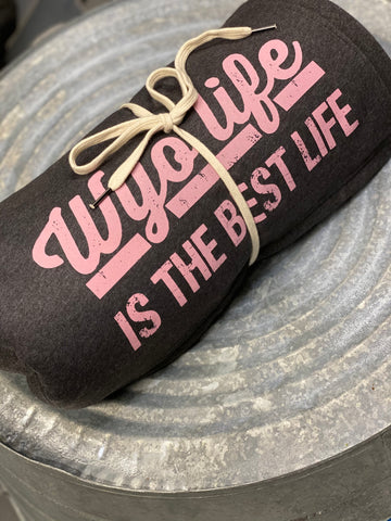 Charcoal/Pink Best Life Giant Sweatshirt Blanket