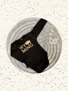 Black/Gold WYO Onesie