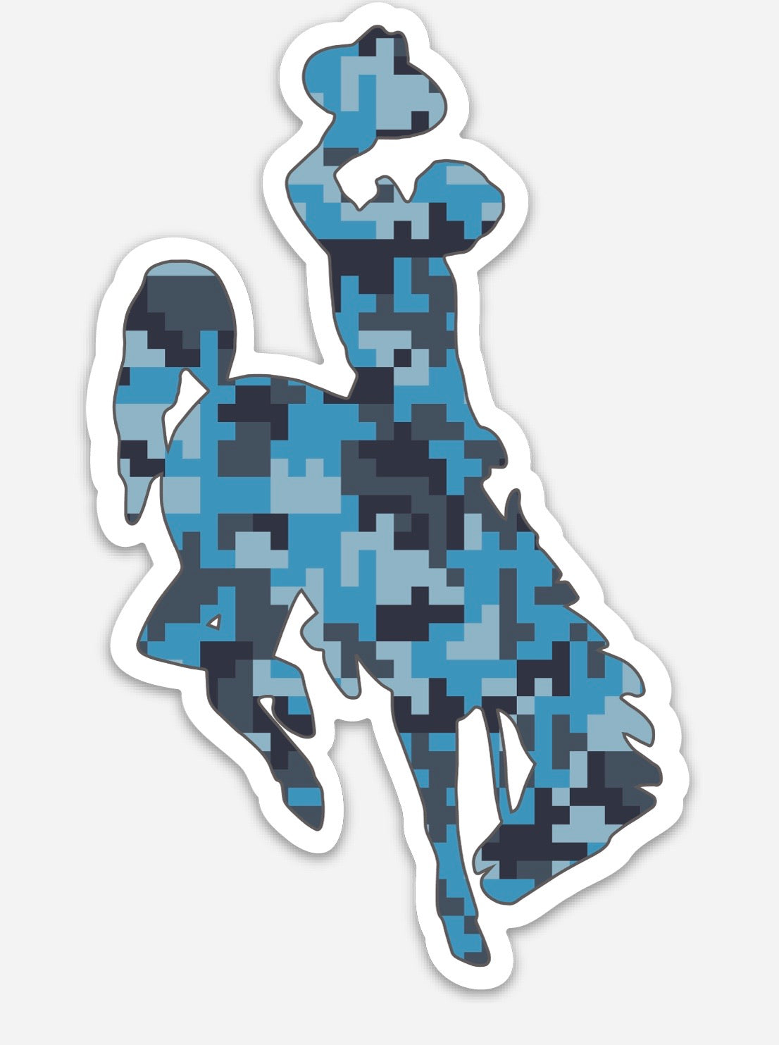 Steamboat Blue Digital Camo Die Cut Vinyl Decal