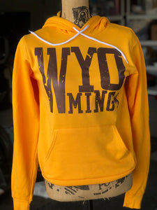 Gold/Metallic Brown Wyo Around The Block Hoodie