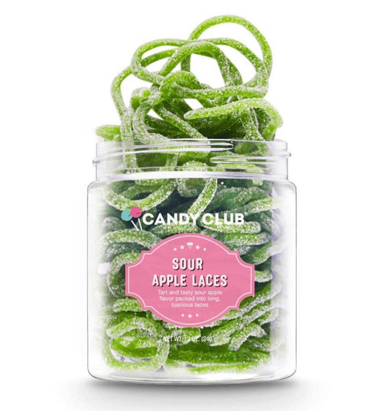 Sour Apple Laces- Candy Club