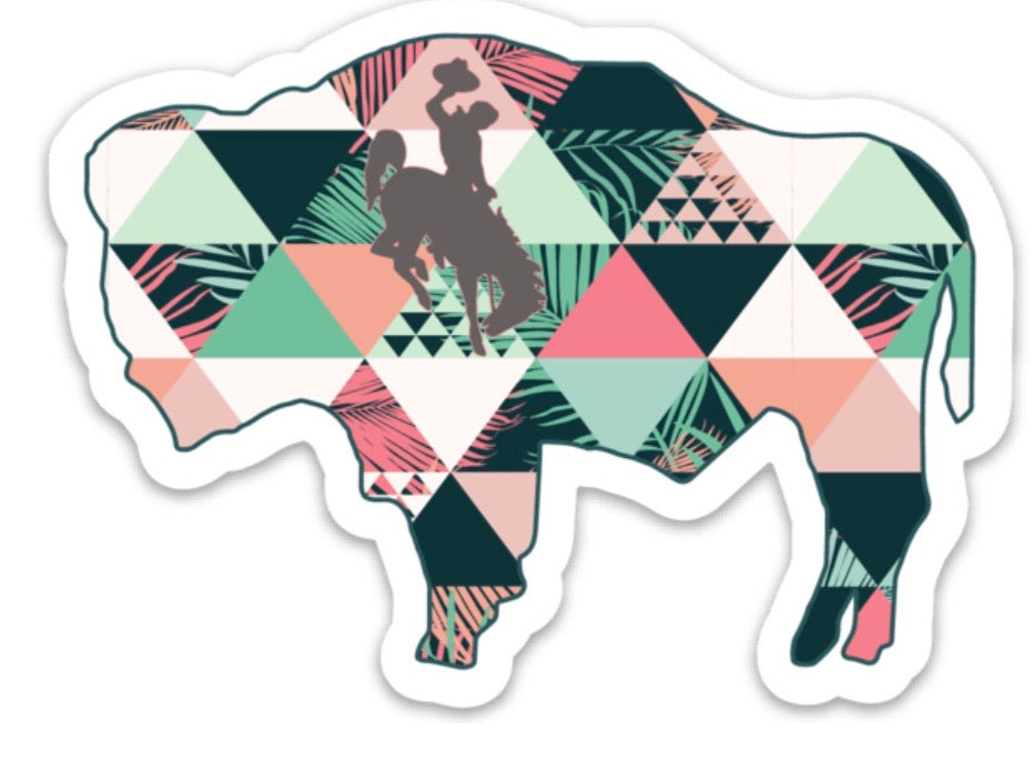Peach Tropic Buffalo Decal