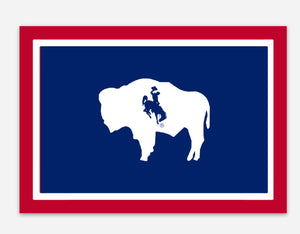 Wyoming Flag Die Cut Vinyl Decal