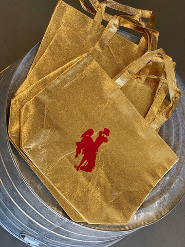 Gold & Red Steamboat Gift Tote