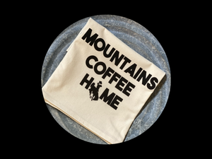 Mountains Coffee Home Flour Sack Towel