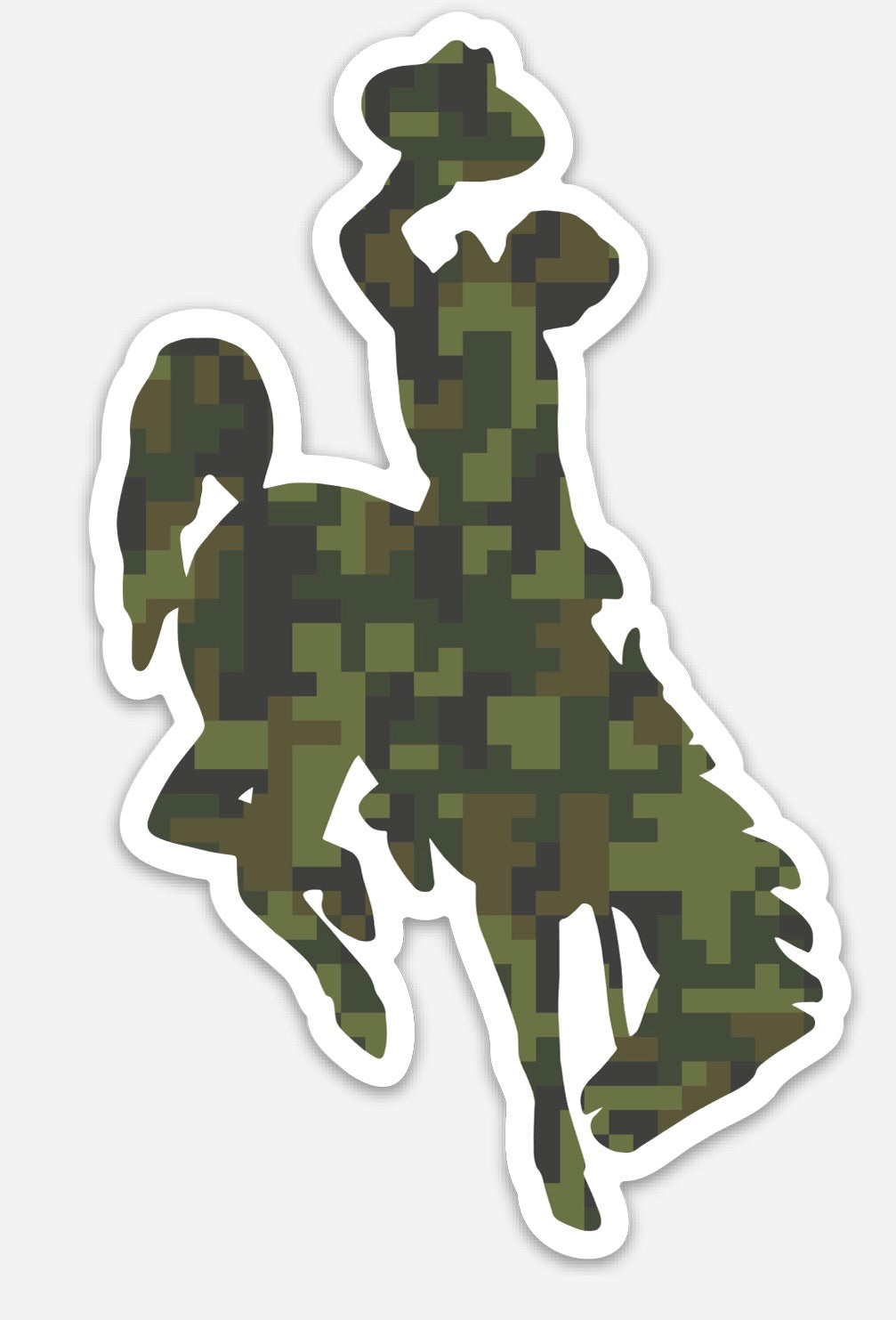 Olive Digital Camo Steamboat Die Cut Vinyl Decal
