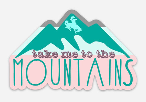 Purple/Aqua Take Me to the Mountains Decal