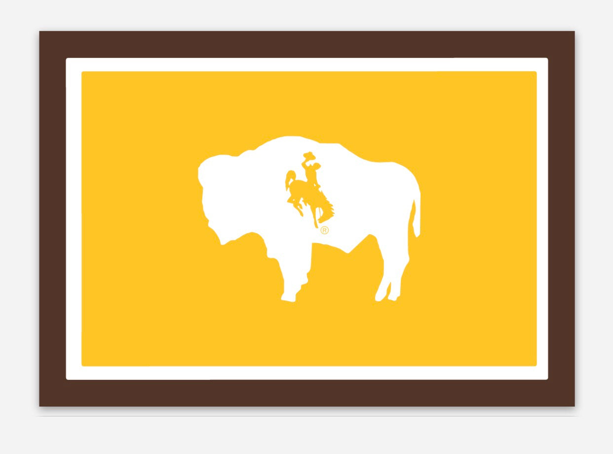 B & G Wyoming Flag Decal