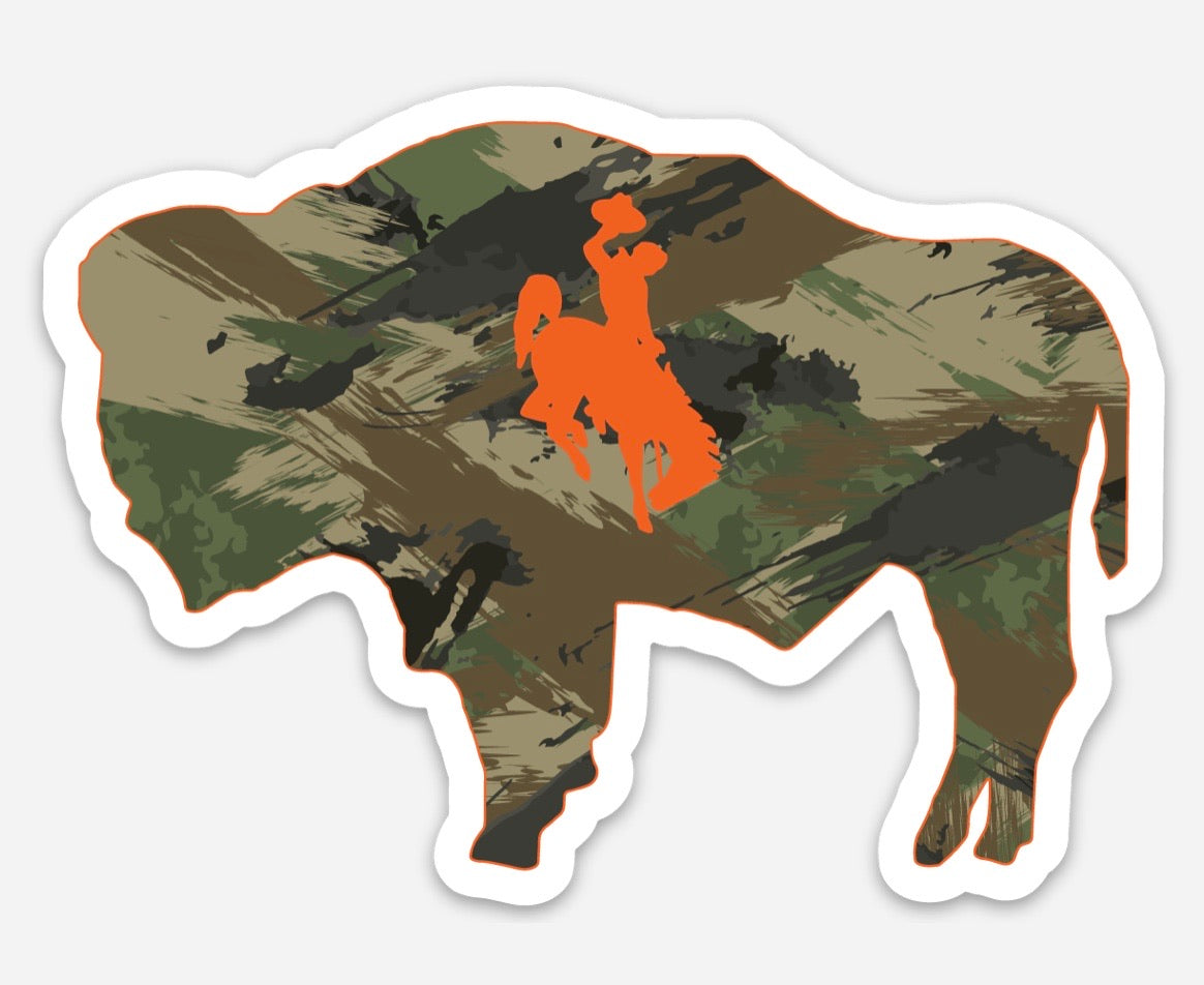 Buffalo Camo Die Cut Vinyl Decal