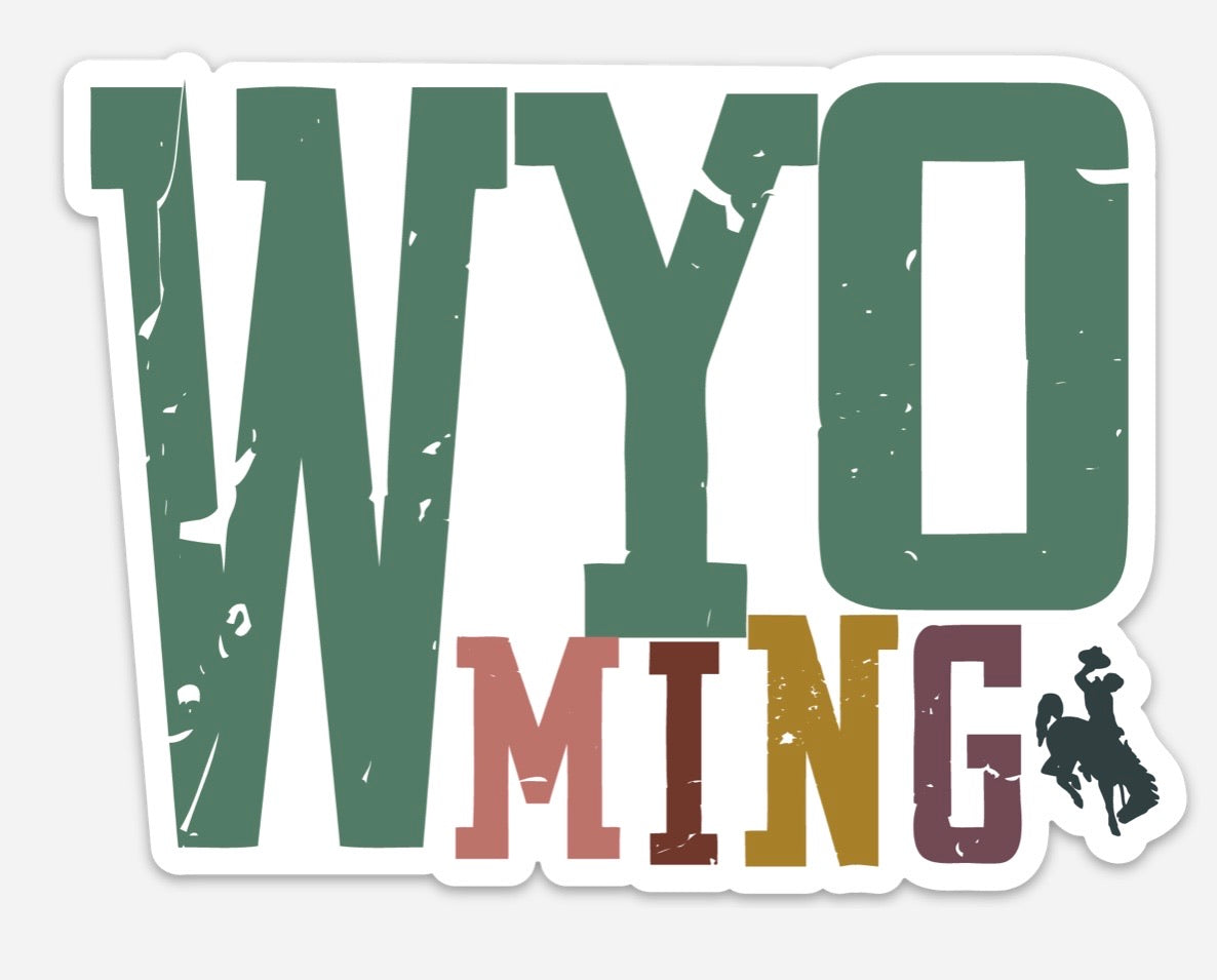 Earth Tone Wyo Block Decal