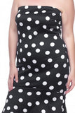 Off-shoulders Polka Dot midi Dress
