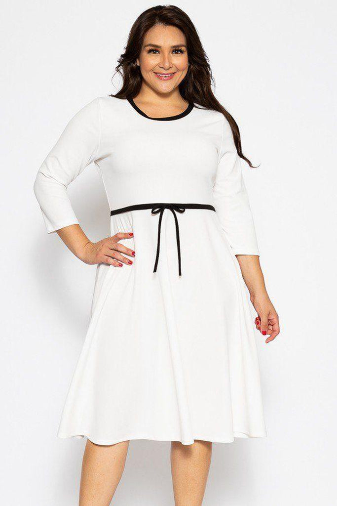 Diana flare white midi dress-Primetime Looks