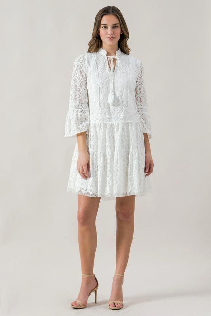 VALETTA Lace Babydoll Dress