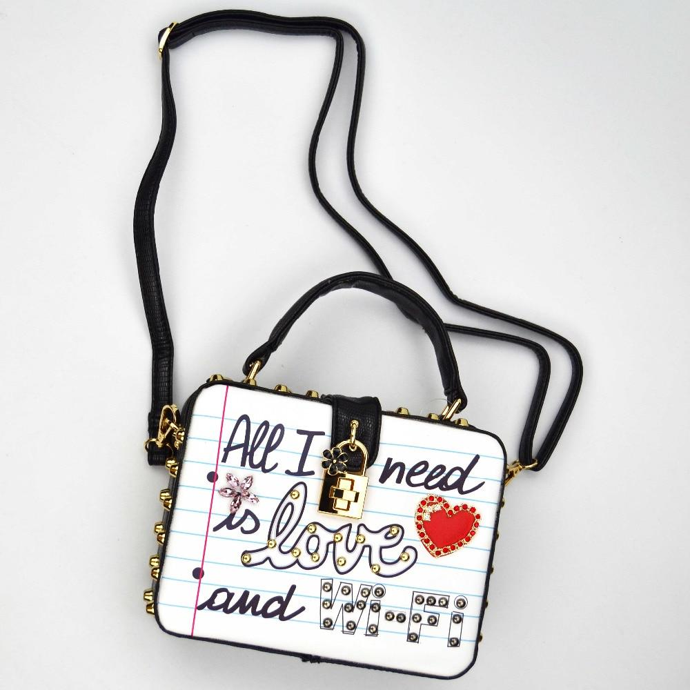 ALL I NEED IS LOVE shoulder bag