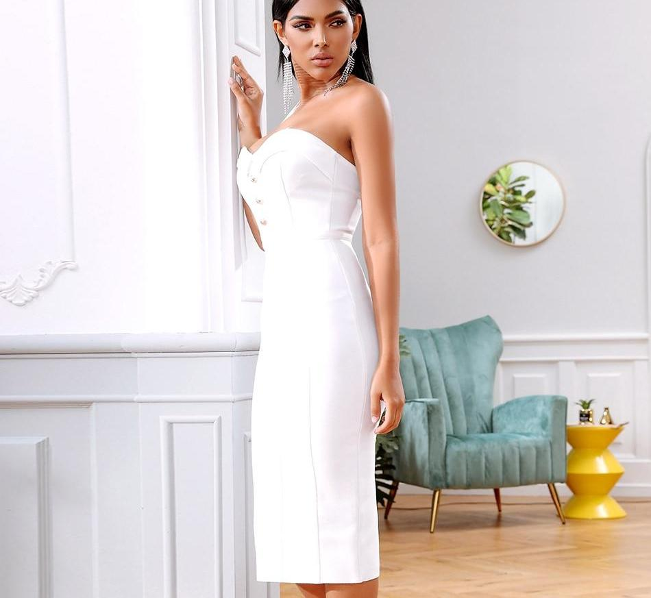 AURORA Sleeveless Strapless Dress