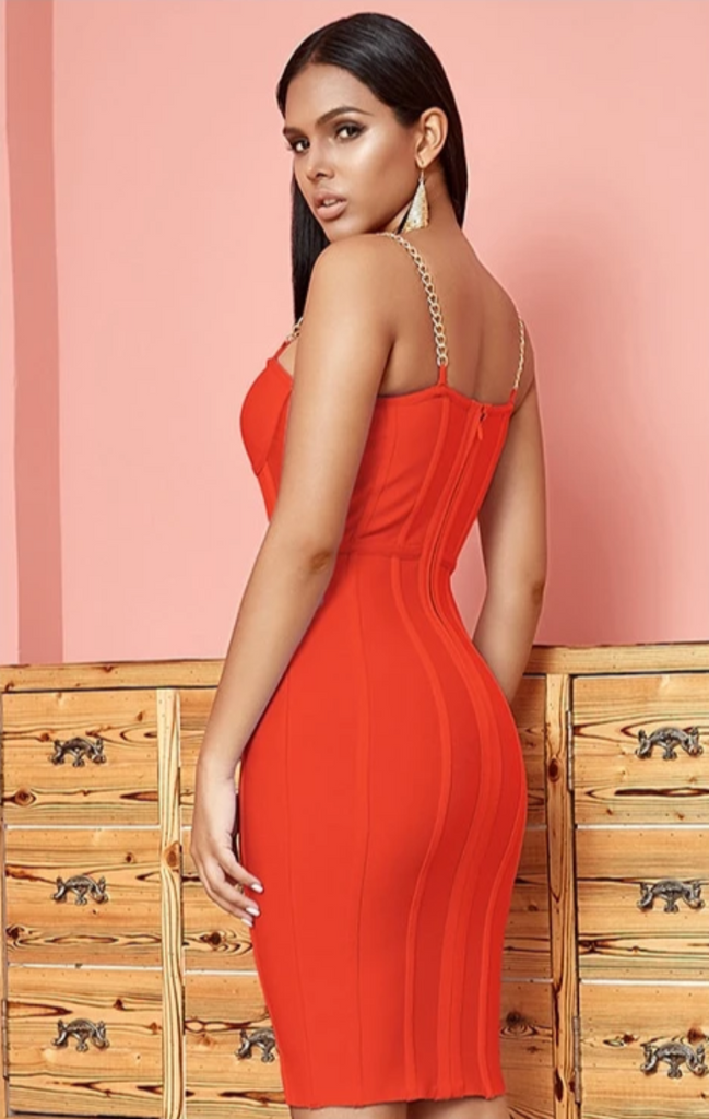 IVANA Lace Bodycon Runway Bandage Dress