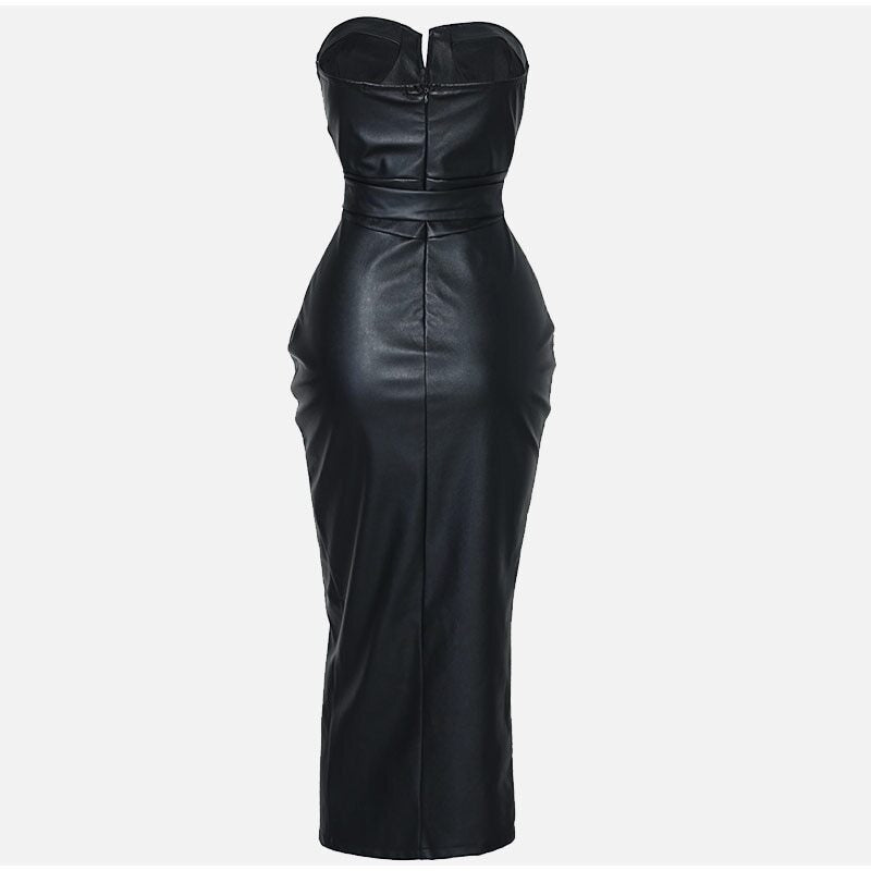Bodycon sweetheart slit dress
