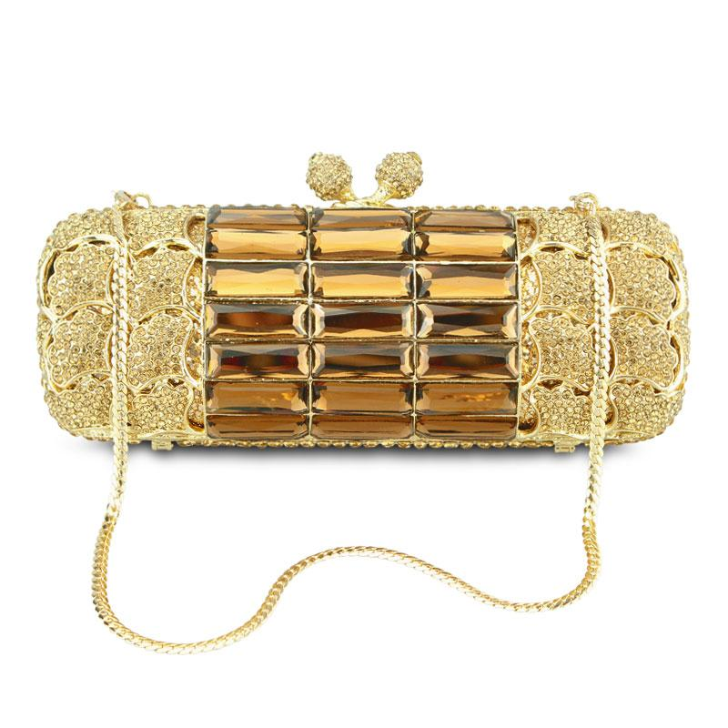 GRAIL embellished clutch in gold