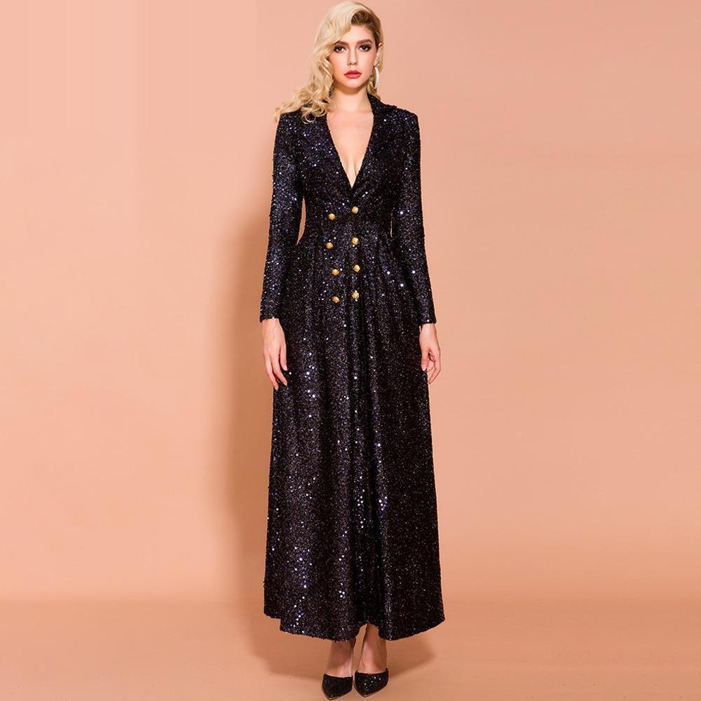 JORDANA sequinned trench dress