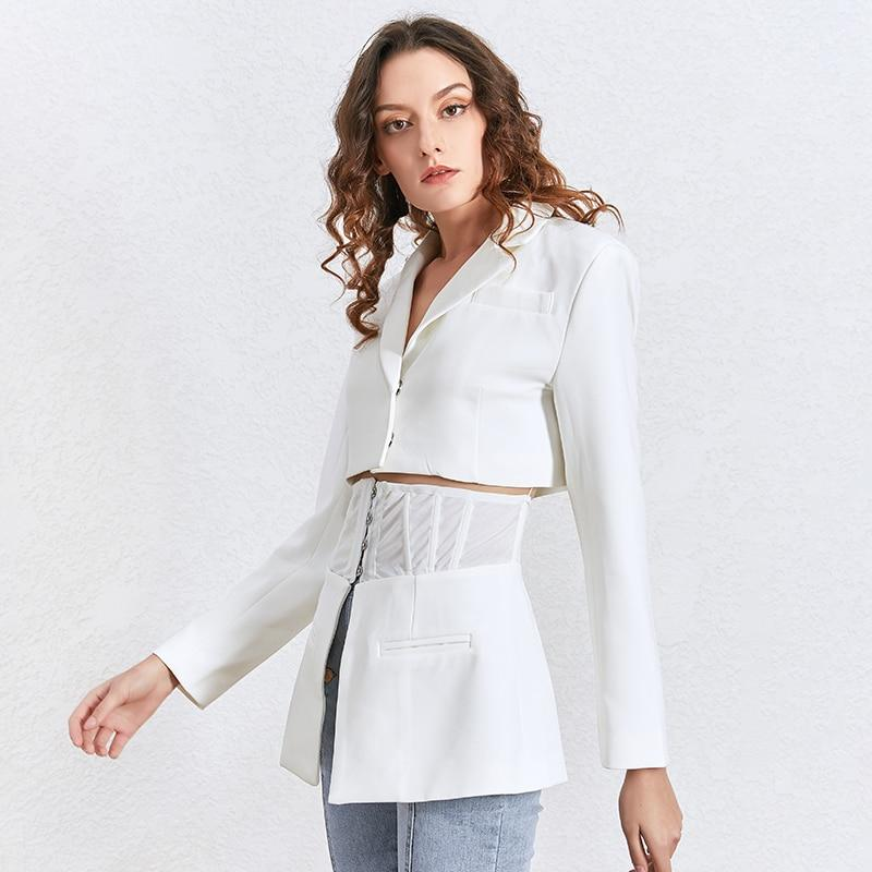 MARCELLE Lapel Cutout Tunic