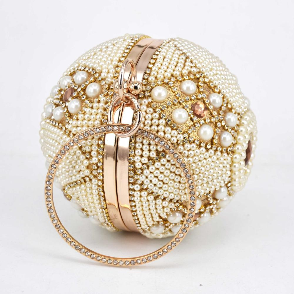 PEARL BALL beaded mini purse