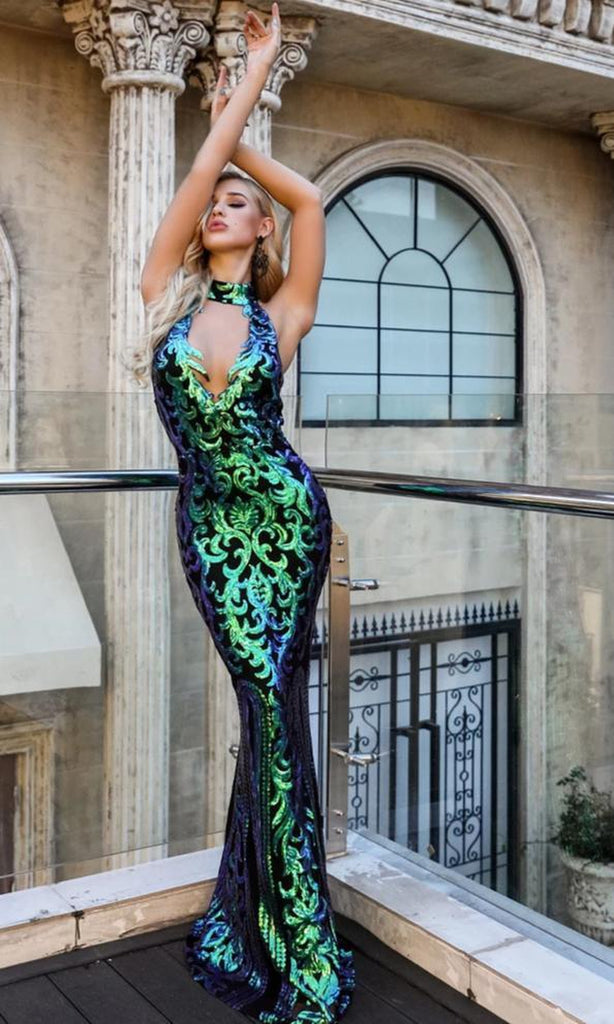POISON IVY sequinned gown
