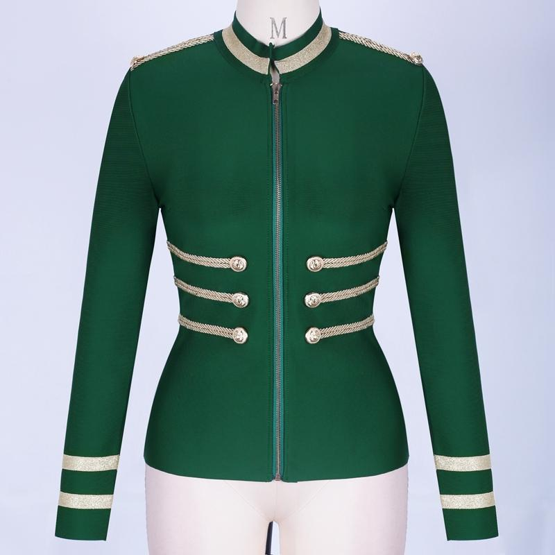 Primetime Looks-AHOY zipped blazer in green