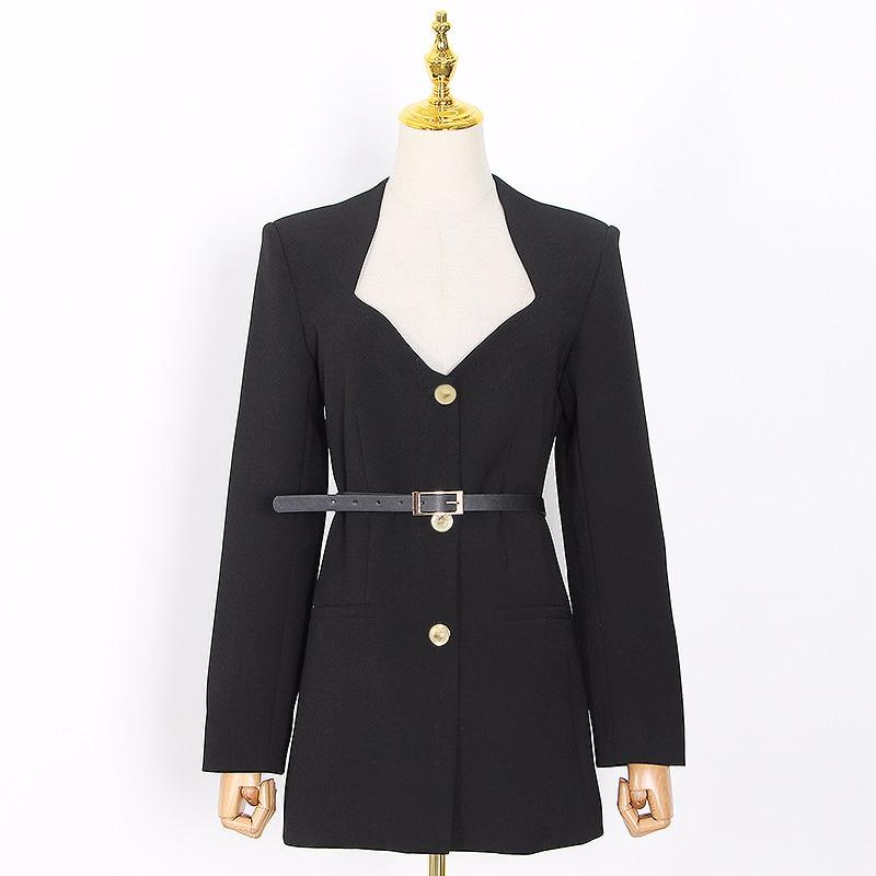 AMARA belted blazer dress