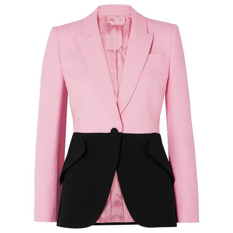 Primetime Looks-Black and pink elegant blazer