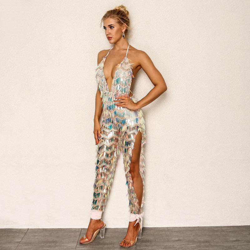 Primetime Looks-Club thing sequined jumpsuit