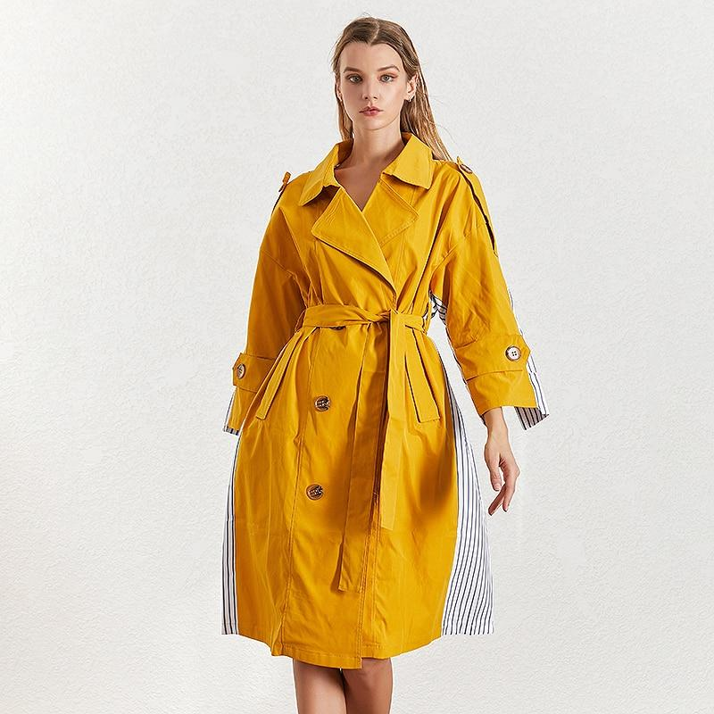 Color block cotton-blend trench-Primetime Looks