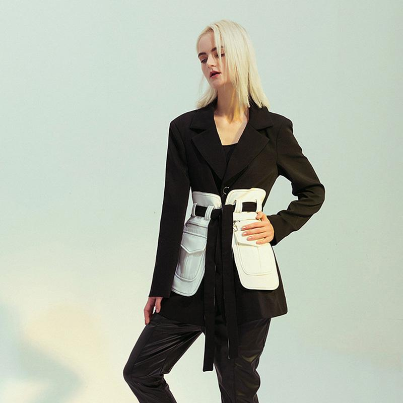 Primetime Looks-Color-block long blazer