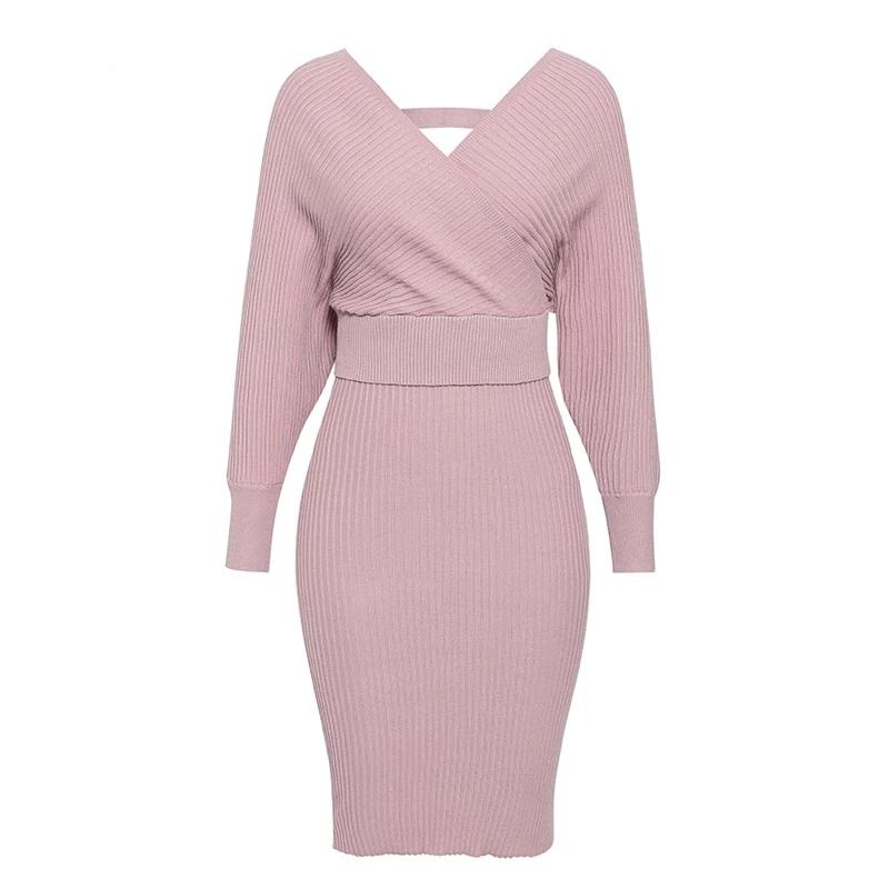 Primetime Looks-Cotton-blend knit skirt suit in powder pink