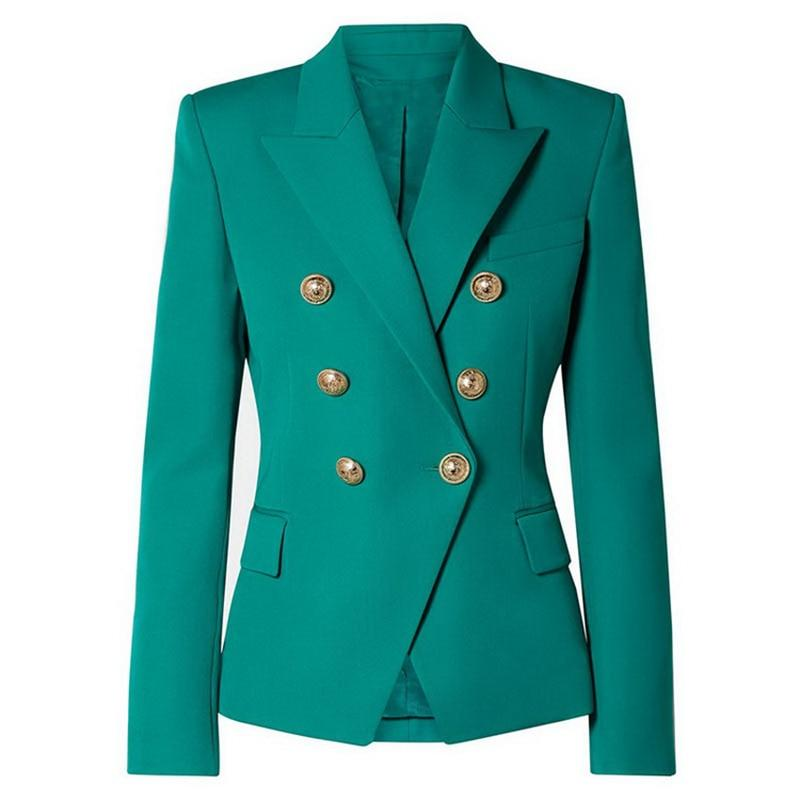 Primetime Looks-Double-breasted blazer in aquamarine