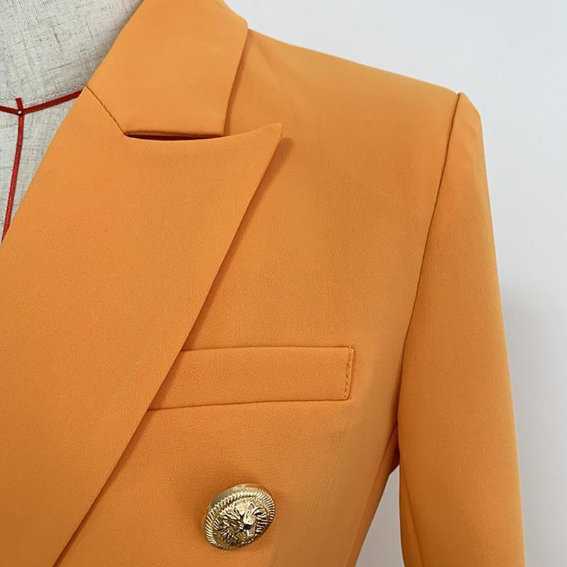 Primetime Looks-Double-breasted blazer in orange