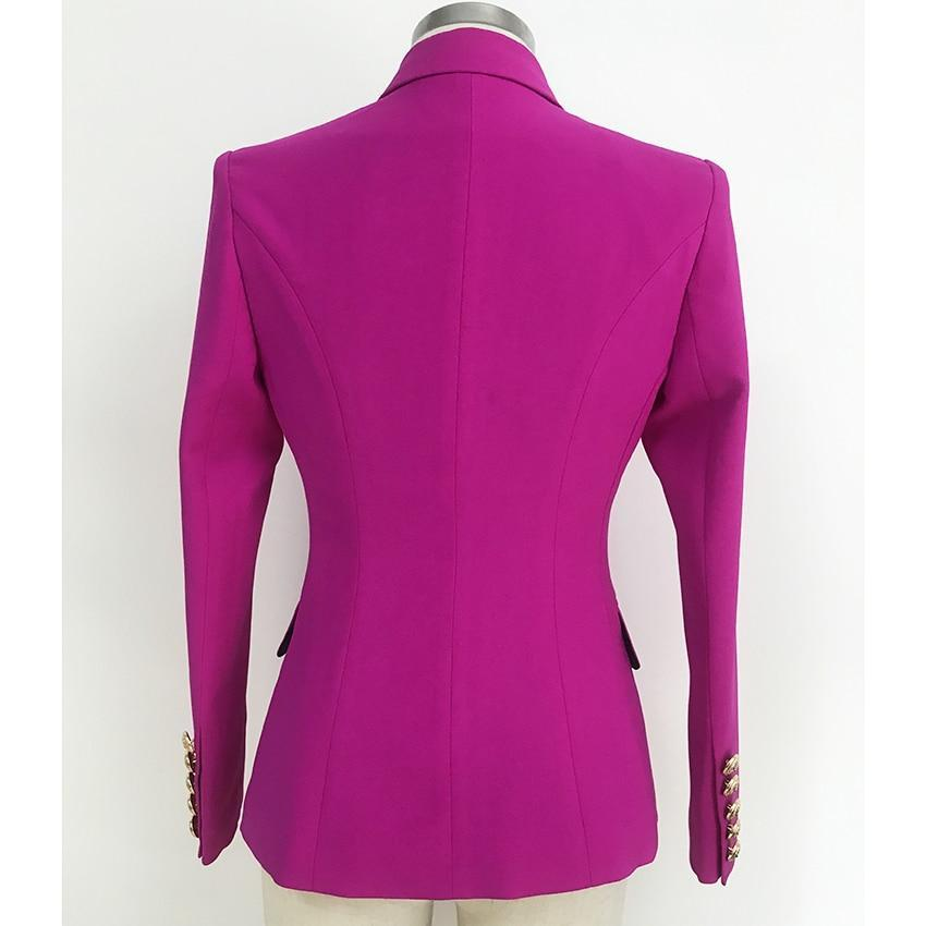 Primetime Looks-Double-breasted blazer in violet